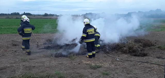 Akcja gaśnicza w okolicy Zbyszewic