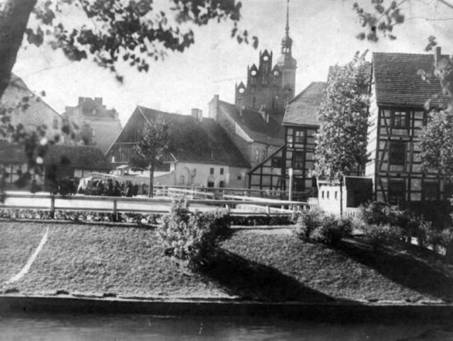 Tereny nad Słupią w rejonie centrum Słupska przed 1945 rokiem.