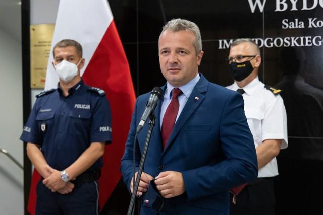 Mikołaj Bogdanowicz spotkał się z przedstawicielami służb. Odprawa dotyczyła bezpieczeństwa w czasie wakacyjnym