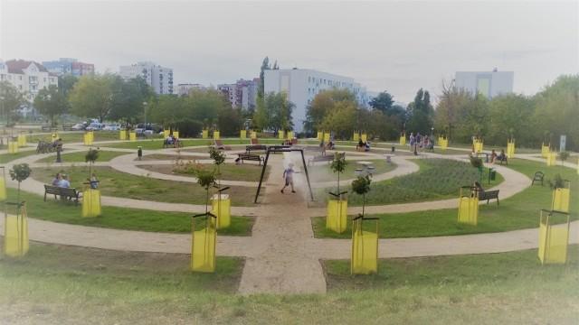 Zielony teren na os. Łużyckim to również efekt budżetu obywatelskiego.