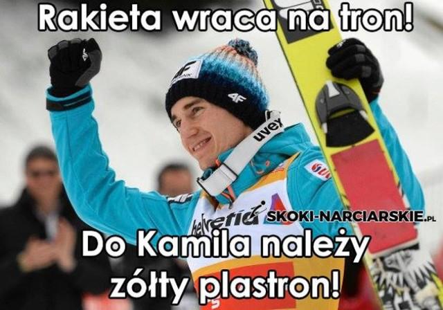"""Kamil Stoch, memy. Polski skoczek triumfuje w Wiśle. """"Kamil pozamiatał, hehe"""" [MEMY]"""