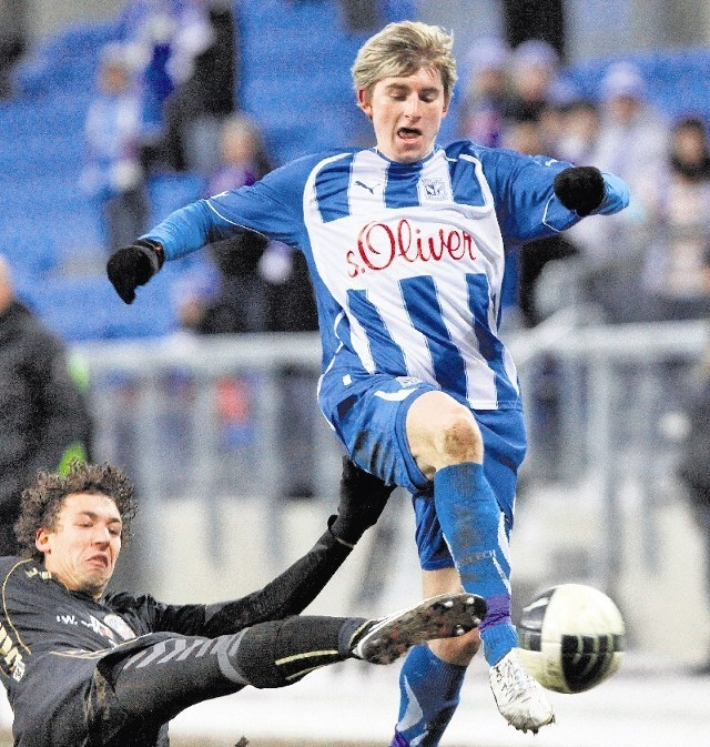 Jacek Kiełb  w Lechu strzelił tylko jedną bramkę, a w 10 meczach Korony dwa gole.