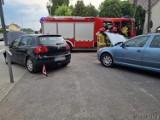 Wypadek w Boguszycach. Zderzenie volkswagena ze skodą na drodze krajowej nr 45