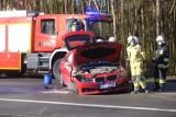 Wypadek w Papowie Toruńskim na DK 91. Czołowe zderzenie i ogromne korki. Droga zablokowana [ZDJĘCIA]