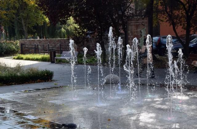 Jedną z atrakcji Parku Sowińskiego w Zielonej Górze są fontanny