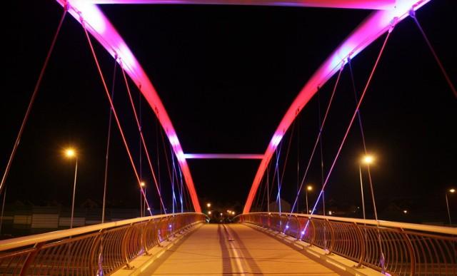 Biało-czerwone iluminacje w Gdańsku