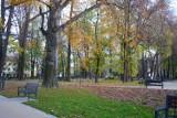To jeszcze nie koniec jesieni w Rzeszowie! Park przy ul. Dąbrowskiego w pięknych, złocistych barwach. A na ziemi mnóstwo liści
