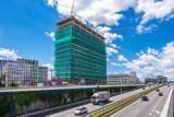 Katowice: Drugi biurowiec Face2Face Echo Investment już wyższy nie będzie. Zawisła już wiecha