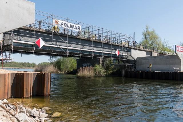 Prace na moście w Bernardynce