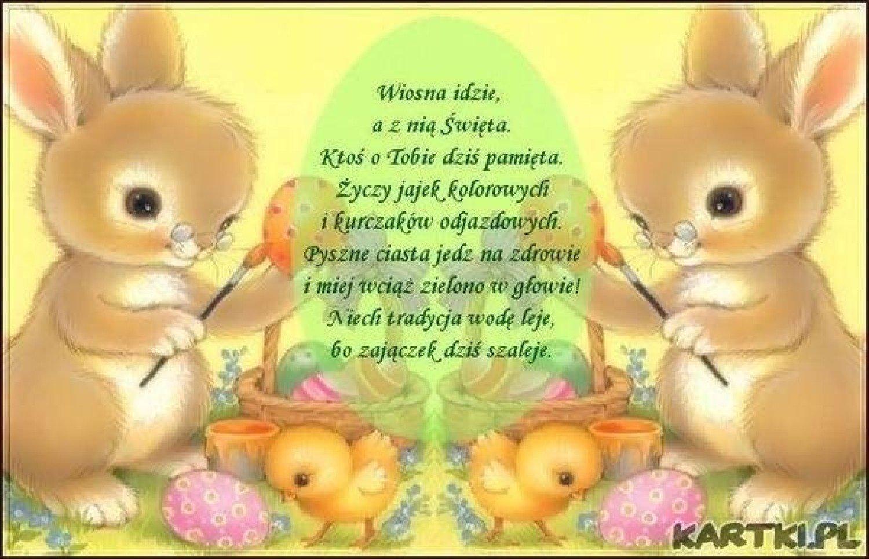 życzenia Wielkanocne Wesołe śmieszne Krótkie Sms