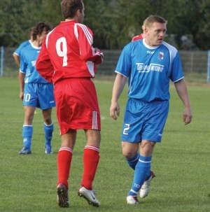 Bogdan Prusek, najlepszy strzelec Beskidu, nie zawodzi – w sparingu strzelił dwa gole.
