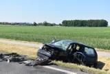 Gmina Pleszew. Dwa samochody zderzyły się na drodze krajowej