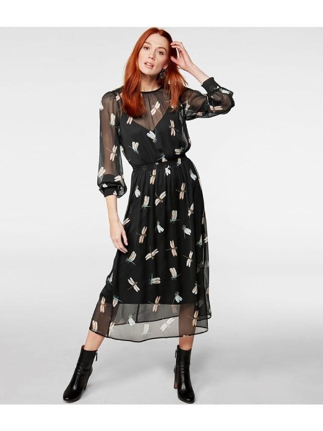 Szyfonowa sukienka powinna znaleźć się w każdej szafie tego lata. Taka stylizacja z lordsami i kapeluszem będzie elegancka a zarazem letnia i zwiewna. Koszt sukienki w sklepie internetowym Kapp Ahl to 75 zł.
