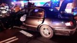 Zderzenie dwóch aut na ul. Prażmowskiego. Cztery osoby poszkodowane