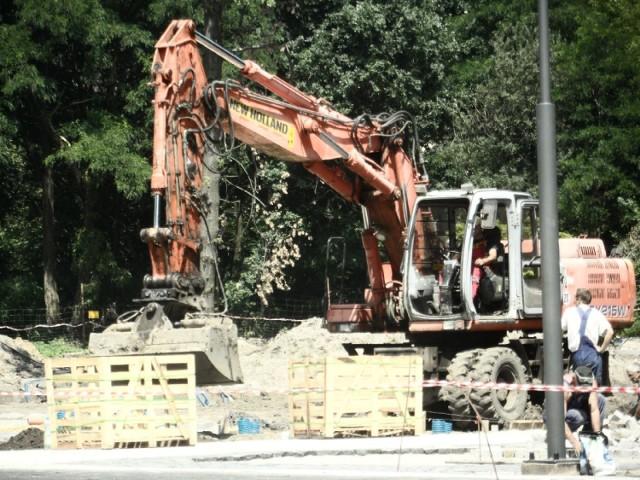 Trwa budowa parku nad Nacyną w Rybniku