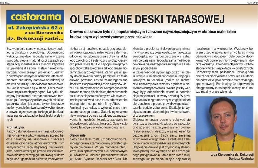 Olejowanie Deski Tarasowej Kraków Nasze Miasto