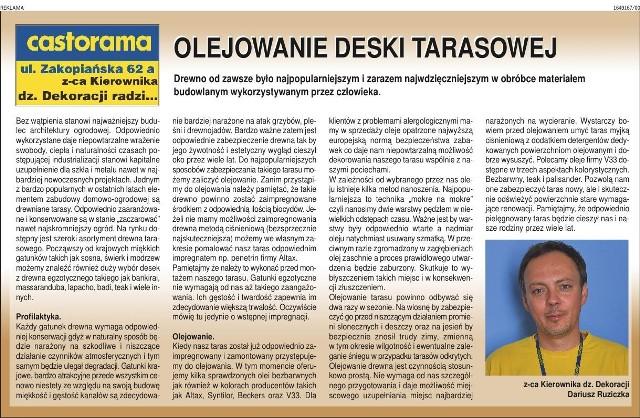 Olejowanie Deski Tarasowej Krakow Nasze Miasto