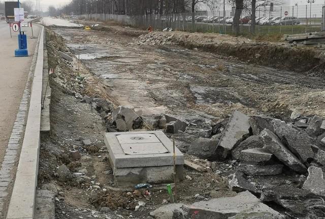 Trwa przebudowa ul. Igołomskiej