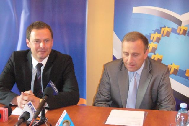 P. Borys (z lewej) i G. Schetyna