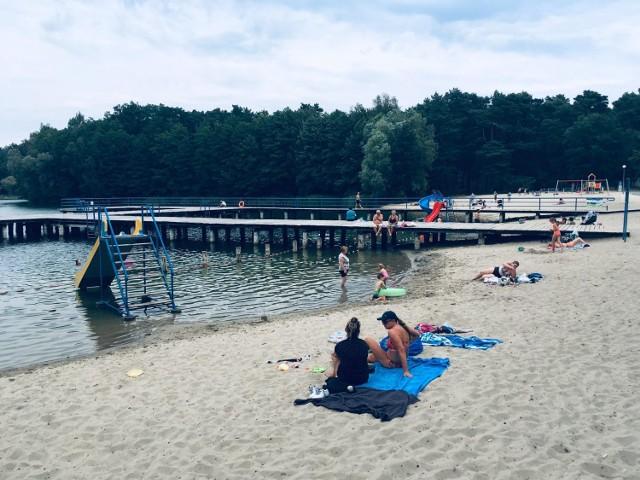 Plaża w Łochowicach koło Krosna Odrzańskiego.