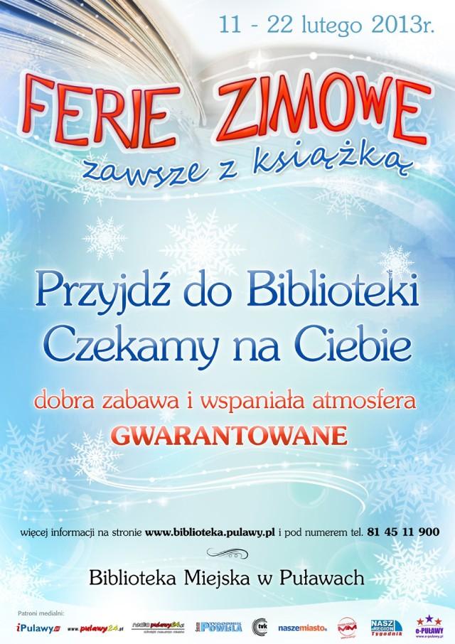 Bilblioteka Miejska Zaprasza Na Ferie Z Książką Warszawa
