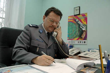 Trudno jest mi się rozstać z Cieszynem, zwłaszcza że bardzo się zżyłem z policjantami – mówi mł. insp. Krzysztof Mancewicz. fot. Wojciech  Trzcionka