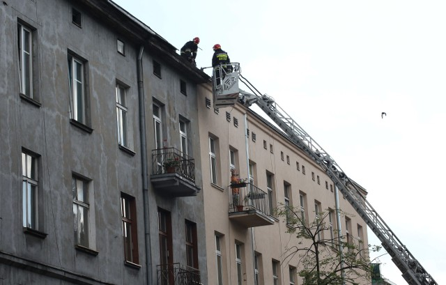 Pożar kamienicy na 1 Maja w Łodzi