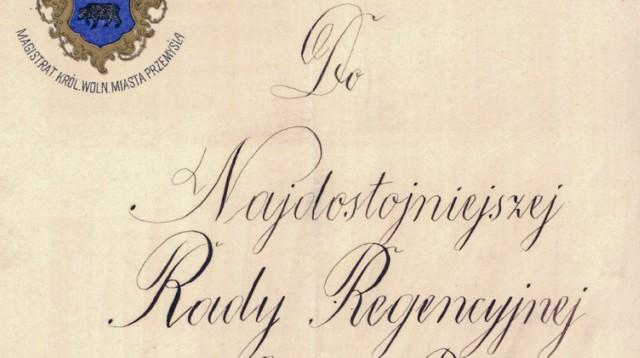 Dokumenty z 1918 r. w zbiorach Archiwum Państwowego w Przemyślu.