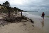 Plaża wschodnia w Rowach zniszczona przez sztorm. Czy będzie odbudowa?