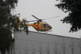 Wypadek w zakładzie pracy w Koźminie Wlkp. Lądował LPR. Osoba trafiła do szpitala [ZDJĘCIA]