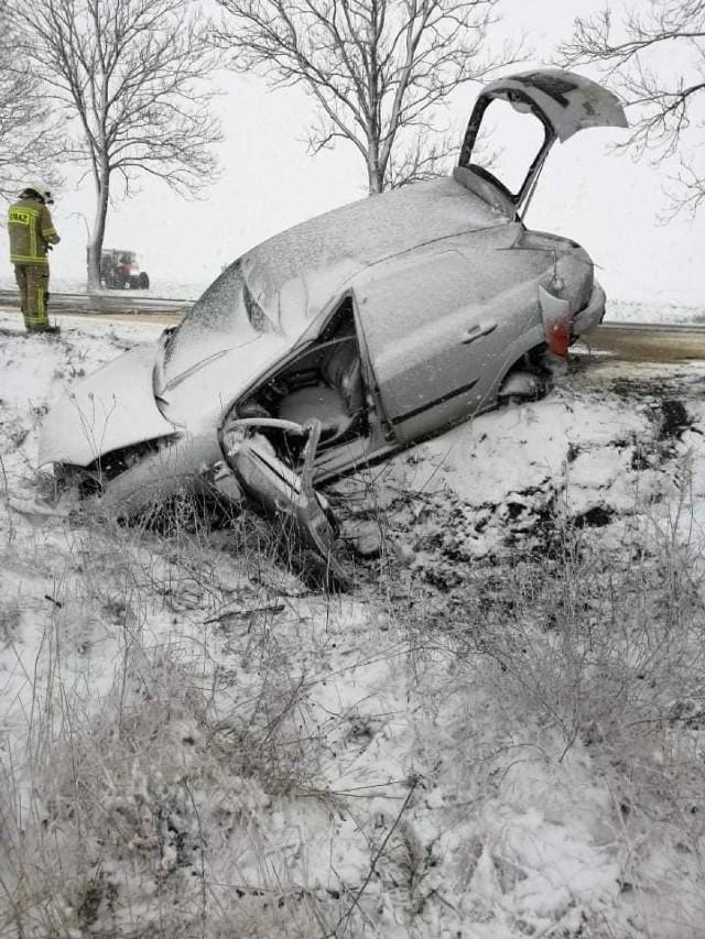 Wypadek na trasie Rudka - Ciechanowiec