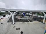 Nowy dworzec autobusowy w Katowicach: nowoczesny, czysty i całkiem pusty. Przy Sądowej wciąż hula wiatr