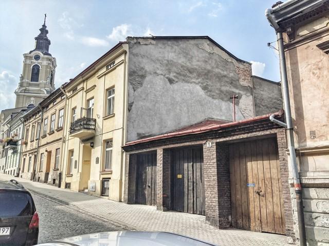 Obecny wygląd budynków dawnej firmy Witolda Trandy, przy ul. Katedralnej w Przemyślu.