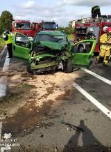 Daleszynek. Wypadek na drodze krajowej nr 24 w Daleszynku. Nie żyje 19-letni kierowca