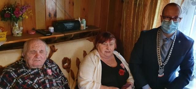Państwo Bruccy z Kraplewic wzięli ślub w 1970 roku w Jeżewie