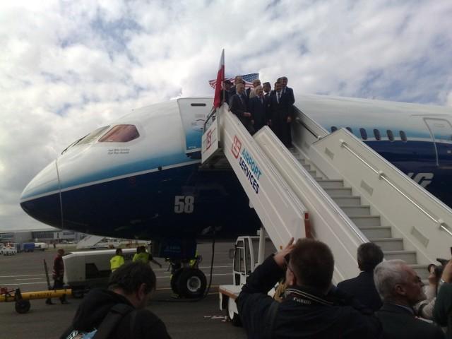 Boeing 787 Dreamliner w Warszawie