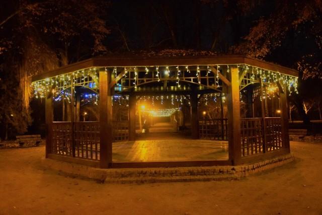 Tak prezentuje się łęczycki park wieczorem