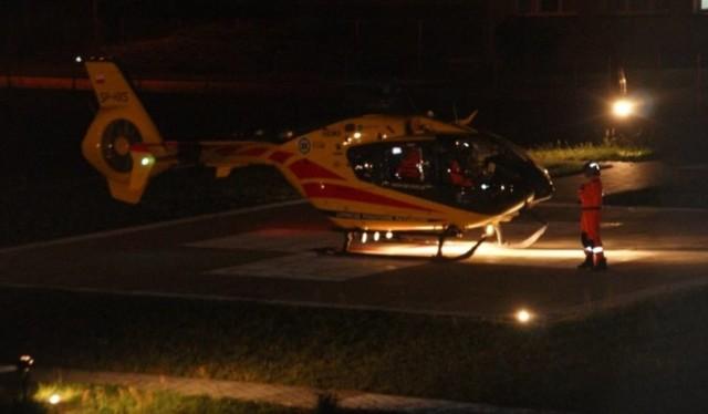 Górnik został przetransportowany do szpitala śmigłowcem LPR