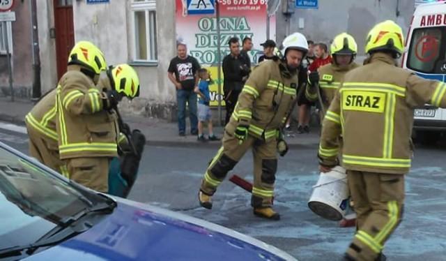 Na skrzyżowaniu chełmińskich ulic: 22 Stycznia i Wodnej doszło do stłuczki