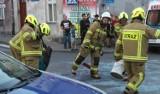 Wypadek na skrzyżowaniu w centrum Chełmna. Kobietę i dziecko zabrało pogotowie. Zdjęcia