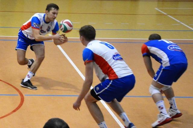 Kłopoty z przyjęciem były jednym z mankamentów kęczan w Katowicach w meczu przeciwko rezerwie GKS.