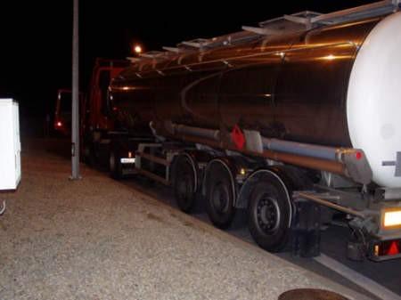 Cysternę z benzyną zatrzymali w Cieszynie śląscy celnicy.