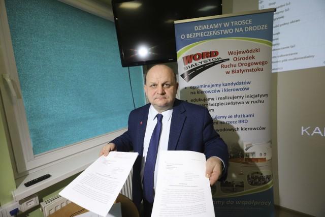 Przemysław Sarosiek, dyrektor WORD Białystok