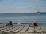 Jesienna refulacja plaży w Ustce. Postępy prac