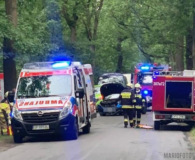 Wypadek w Rzędowie w powiecie opolskim.