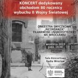 80. rocznica wybuchu II wojny światowej. Koncert w Radiu Wrocław