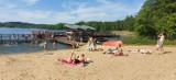 Tyle osób było w długi czerwcowy weekend na plaży w Górznie w powiecie brodnickim. Zobaczcie zdjęcia