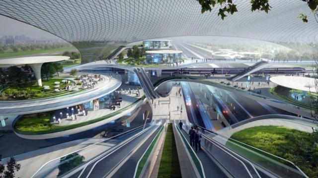 Założenie jest takie, że Centralny Port Komunikacyjny (widoczny na wizualizacji powyżej) to nie tylko nowe lotnisko, ale też nowe odcinki linii kolejowych.   Program CPK zakłada budowę 1600 km nowych linii (w tym odcinków o standardzie kolei dużych prędkości), mających połączyć Warszawę i CPK z większością największych miast Polski w czasie nie dłuższym niż 2-2,5 godziny.   Roboczo odcinki nazywane są tzw. szprychami, które w licznie 10 będą rozchodzić się od CPK po kraju. Część torów dostosowanych do kolej dużych prędkości ma być zupełnie nowych, inne to zmodernizowane fragmenty dzisiaj istniejących torów.  Za budowę nowych linii będzie odpowiadać spółka CPK, a modernizację drugich – PKP Polskie Linie Kolejowe. Nowe fragmenty linii powstaną także na Dolnym Śląsku.  Sprawdź szczegóły na kolejnych slajdach