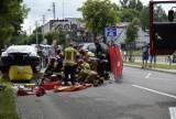 Groźny wypadek w Skierniewicach. Motocyklistę zabrał śmigłowiec ZDJĘCIA