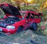 Wypadek na DW 984 pod Tarnowem. Zderzyły się dwa samochody osobowe [ZDJĘCIA]